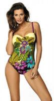 Kostium kąpielowy damski z figlarnym nadrukiem kwiatów