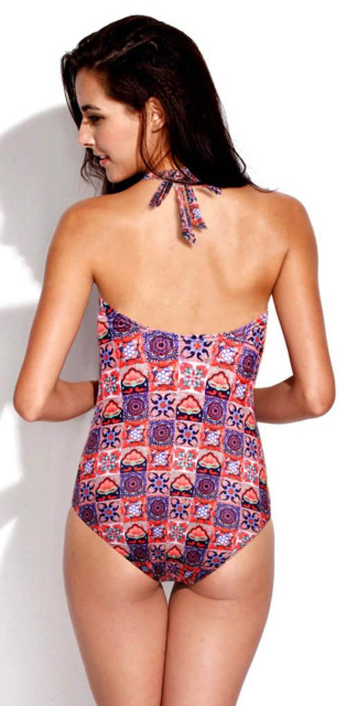 Luksusowy fioletowy damski strój kąpielowy