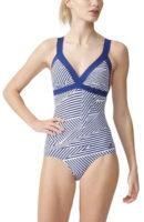 Jednoczęściowy damski kostium kąpielowy Adidas w stylu retro