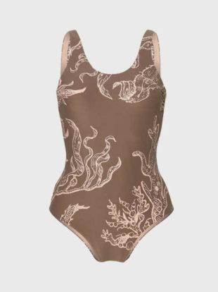 Kostium kąpielowy O'Neill w klasycznym stylu w nowoczesnym i ciekawym wzorze