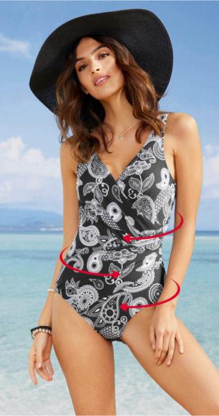 Jednoczęściowy strój kąpielowy do chusty plus size