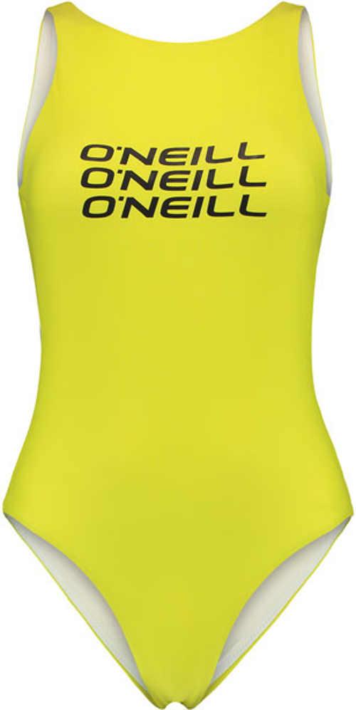 Modne sportowe stroje kąpielowe w kolorze żółtym