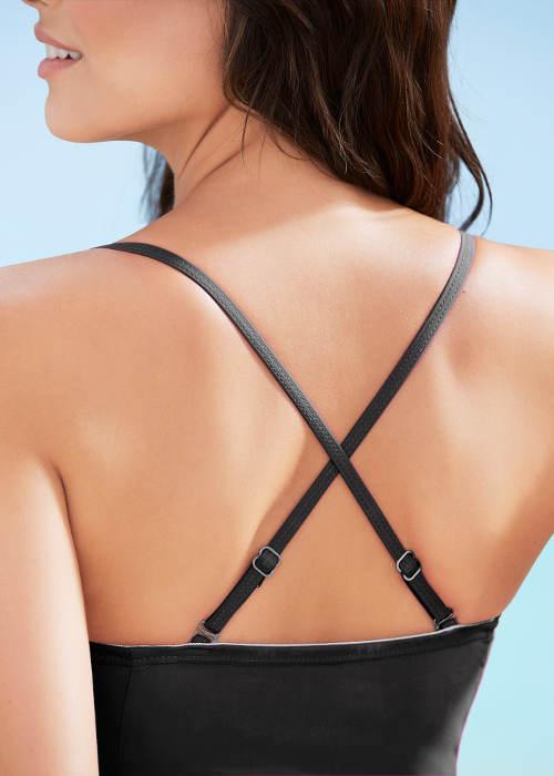 Jednoczęściowy strój kąpielowy z plecami sportowymi