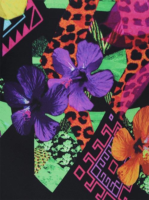 Kolorowy kwiatowy nadruk