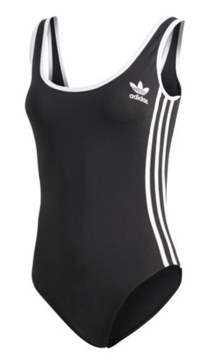 Sportowy strój kąpielowy Adidas z nisko wyciętymi plecami