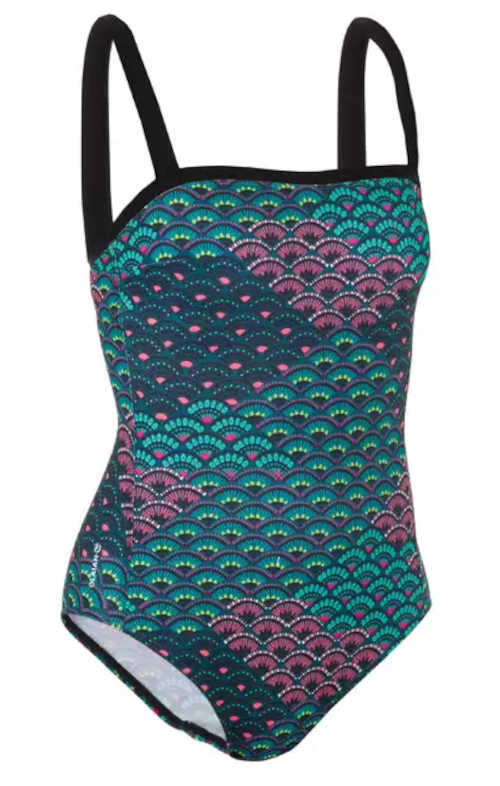 Sportowy strój kąpielowy o prostym designie