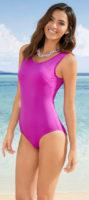 Tanie Purpurowy Stroje kąpielowe jednoczęściowe dla kobiet