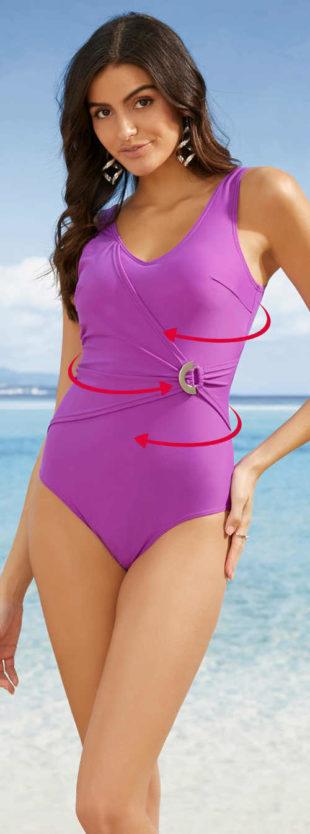 Dopasowany jednoczęściowy kostium kąpielowy w stylu wrap style