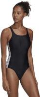 Sportowy strój kąpielowy Adidas odpowiedni do treningu fitness.