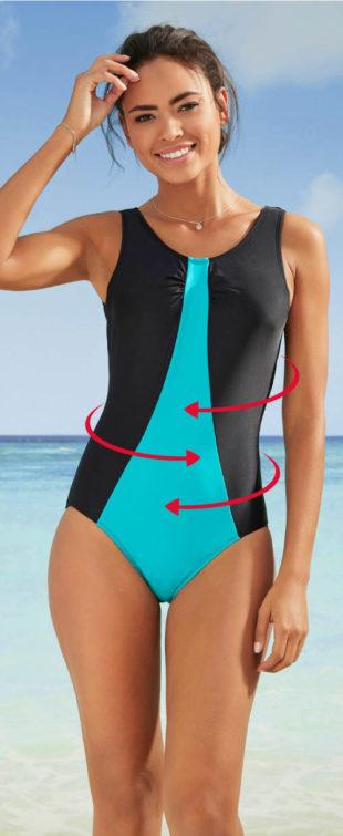 Wyszczuplający sportowy jednoczęściowy kostium kąpielowy damski